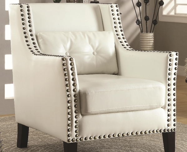 Accent Chair with Nailhead Trim and Lumbar Pillow