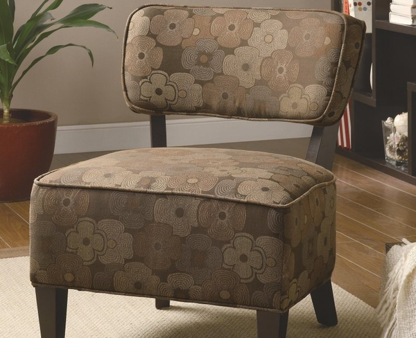 Accent Chair with Smooth Upholstered Seat Cushions