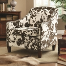Accent Cow Pattern Chair