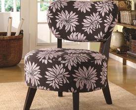 Accent Floral Pattern Chair with Padded Seat