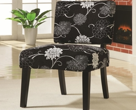 Accent Flower Print Armless Chair