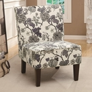 Accent Gray Floral Chair