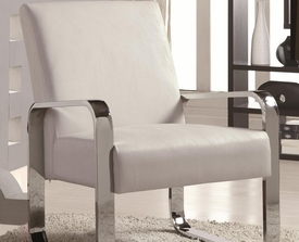 Accent Leisure Chair w/ Metal Arms