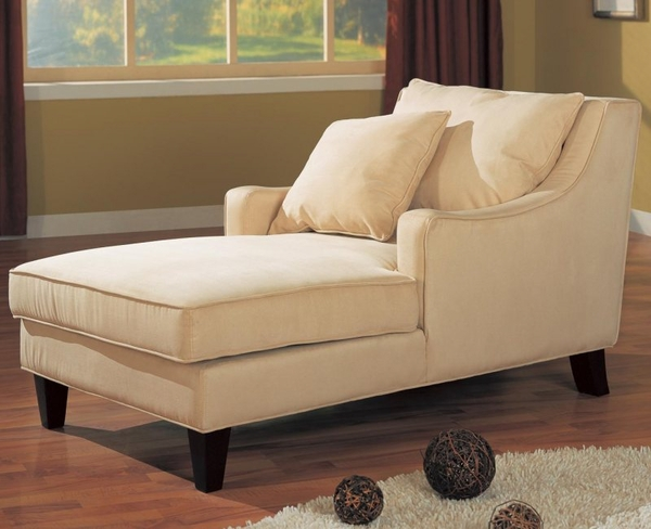 Accent Microfiber Chaise Lounge