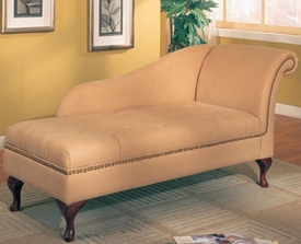 Accent Microfiber Chaise Lounge with Flip Open Seat