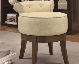 Accent Seating Upholstered Swivel Vanity Stool