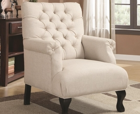 Accent Traditional Button-Tufted Chair