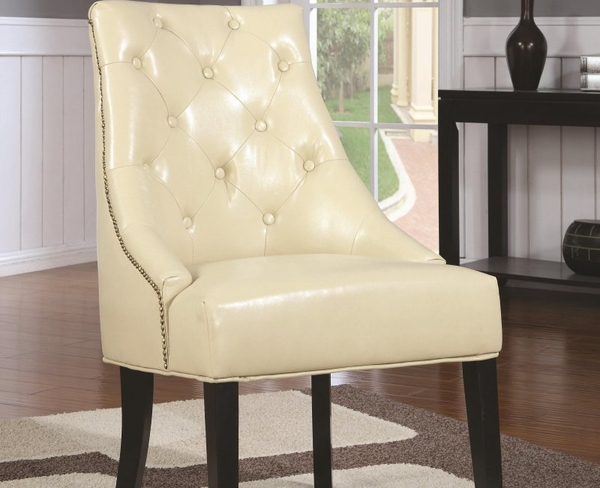Accent Upholstered Chair with Tufted Button