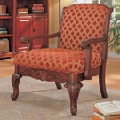 Accent Upholstered Chair with Wood Armrests