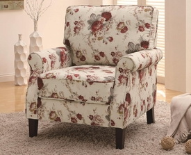 Accent Upholstered Floral Accent Chair