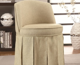 Accent Vanity Stool with Pleated Skirt
