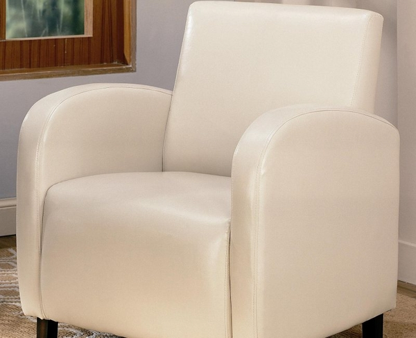 Accent Vinyl Upholstered Arm Chair