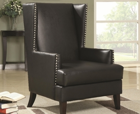 Accent Wing Back Chair with Nailhead Trim