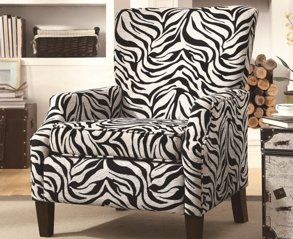 Accent Zebra Pattern  Chair