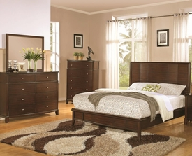 Addley Collection with low profile Bed 5-pc Set