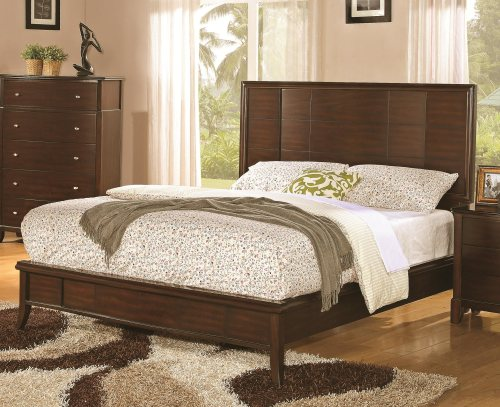 Addley Queen Low Profile Bed with Panel Headboard