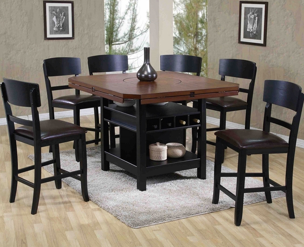 Adjustable 5-Pc Pub Table Set