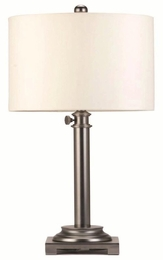 Adjustable Gun Metal Finish Table Lamp
