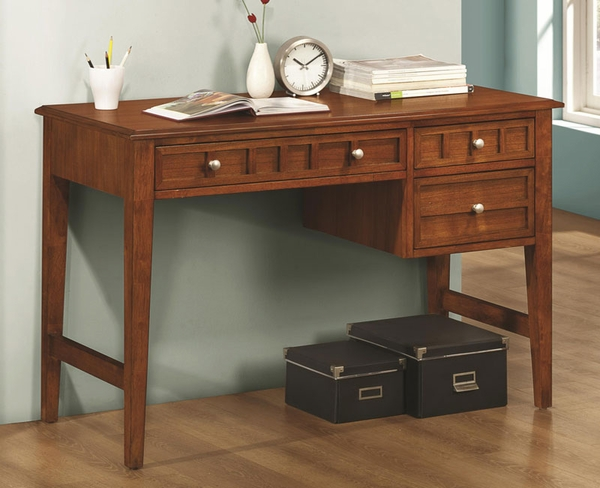 Aiden Rectangular Writing Desk with 3 Drawers