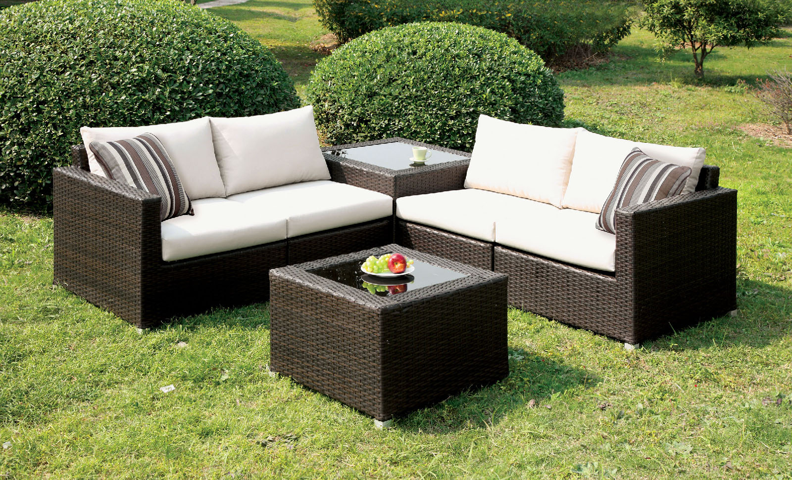 Alago patio set by furniture of america cm os1817iv for Furniture of america dallas texas