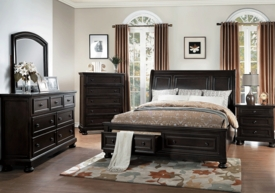Begonia Gray 4-pc Bedroom Set