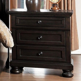 Begonia Gray Nightstand with Hidden Drawer