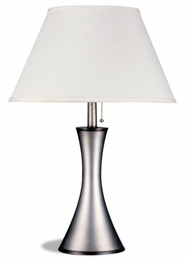 Antique Silver Finished Vase Style Table Lamp