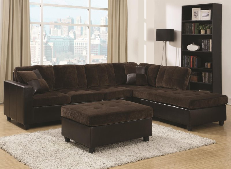 Baseball seam stitching reversible sectional sofa by Baseball sofa
