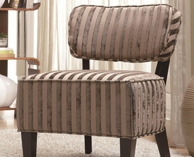 Beige Accent Chair with Wood Legs