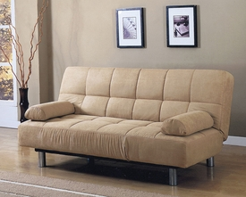 Beige Finish Adjustable Sofa