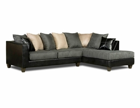 Jefferson Grey Microfiber Sectional # 4184-02