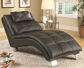 Black Accent Chaise with Sophisticated Modern Look