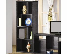 Black Asymmetrical Bookcase