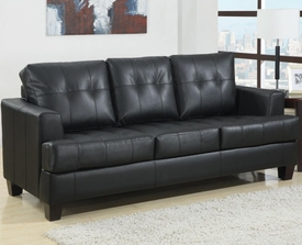Black Bonded Leather Sleeper Sofa