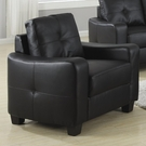 Black Bonded Leather Upholstered Chair