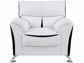 Sofa White and Black Chair