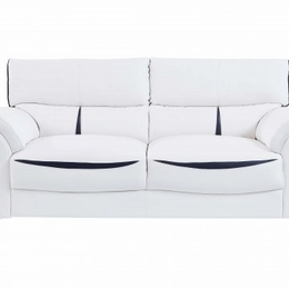 Sofia White and Black Sofa