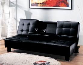 Black Bycast PU Adjustable Sofa Set