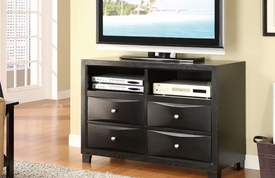 Black Contemporary TV Console