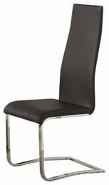 Modern Black Leather Chair # 100515BLK (4pk)