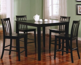 Black Finish 5 Piece Counter Height Dining Set # 150231