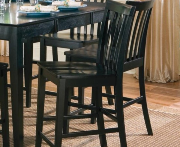 Black Finish Counter Height Chair (2-pk) # 101039