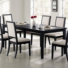 Black Dining Table with Leaf # 101561