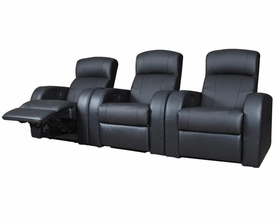 Black Leather Theater Seating