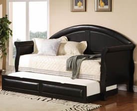 Black Vinyl Upholstered Daybed