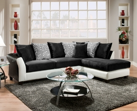 Black and White Avanti Sectional # 4174-02