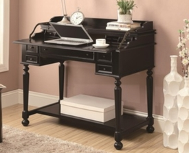 Black Writing Desk with Lift-Top