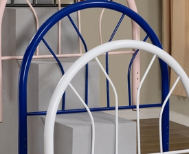 Blue Finish Twin Metal Headboard