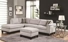 Mason Grey Velvet Reversible Sectional # 503615