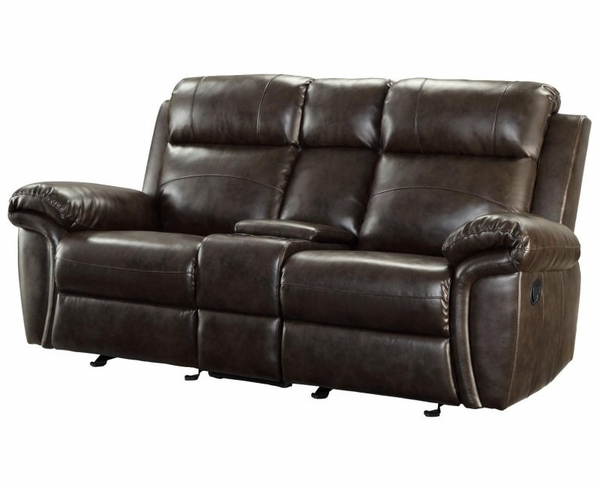 Bonded Leather Reclining Motion Love Seat